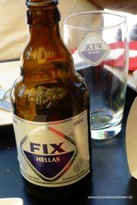 Das Bild zeigt eine Flasche Hellas Fix. (Liebster Award)