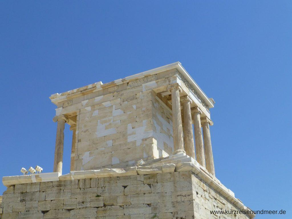 Das Bild ist von meiner Mittelmeer-Kreuzfahrt und zeigt den Nike-Tempel auf der Akropolis in Athen.
