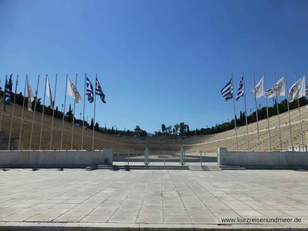 Das Bild ist von meiner Mittelmeer-Kreuzfahrt und zeigt das Panathinaiko-Stadion von Athen