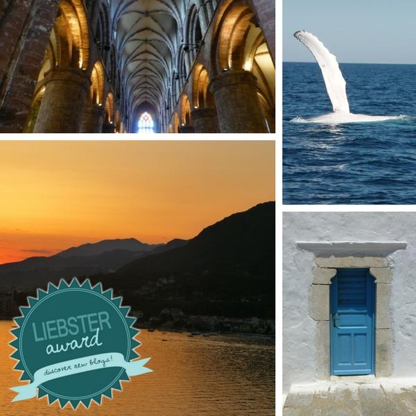 Das Bild zeigt Bilder von meinen reisen mit dem Logo des Liebster Awards