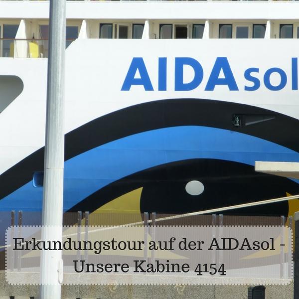 Das Bild zeigt eine Großaufnahme der AIDAsol, das Auge und den Namen des Schiffes