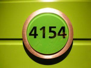 Schild an der Kabinentür der Kabine 4154 der AIDAsol
