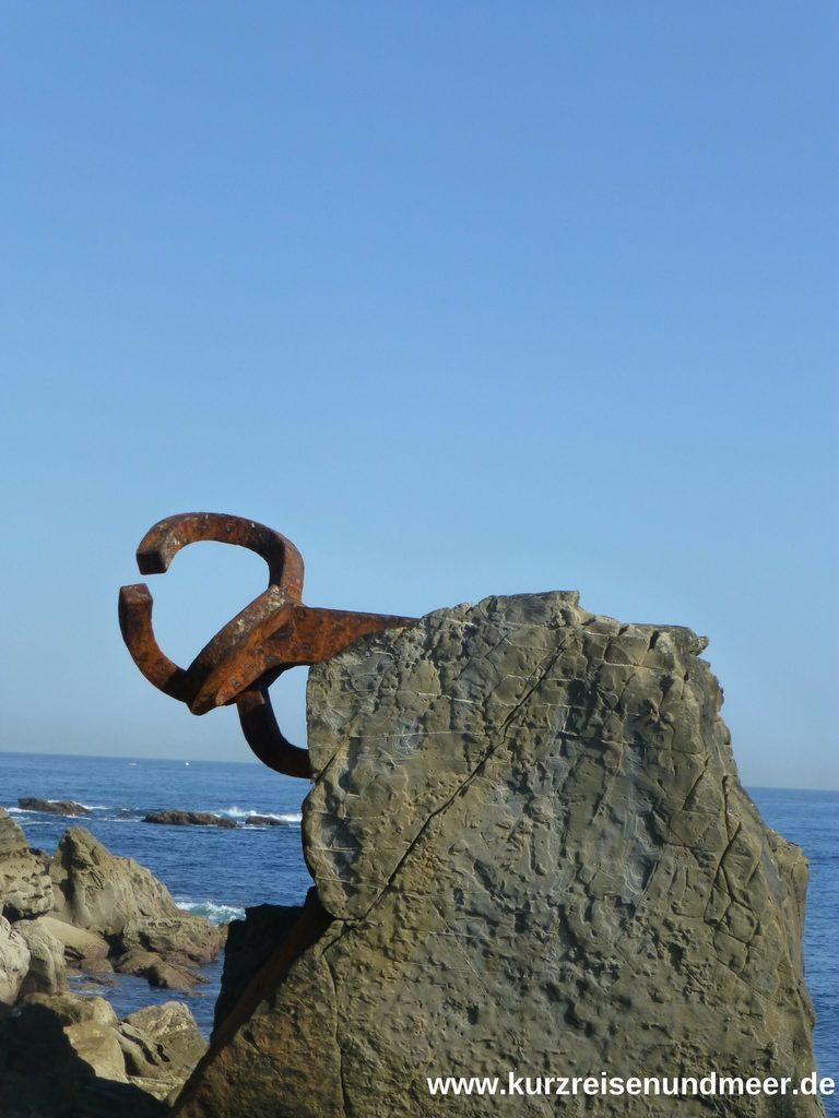 Einer der Windkämme von Donostia - San Sebastian