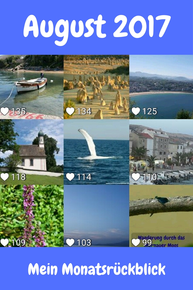 Die neun Bilder, die meinen Instragram-Followern im August 2017 am besten gefallen haben.