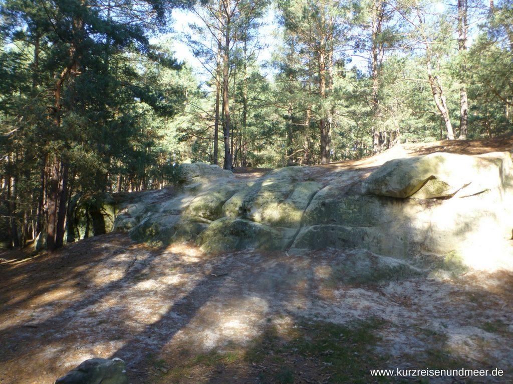 Die kleinen Sandhöhlen im Harz