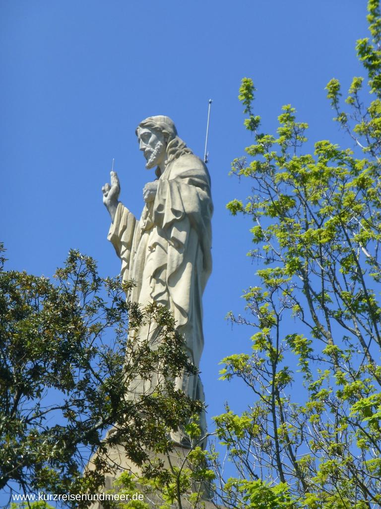 Die Christusstatue auf dem Monte Urgull