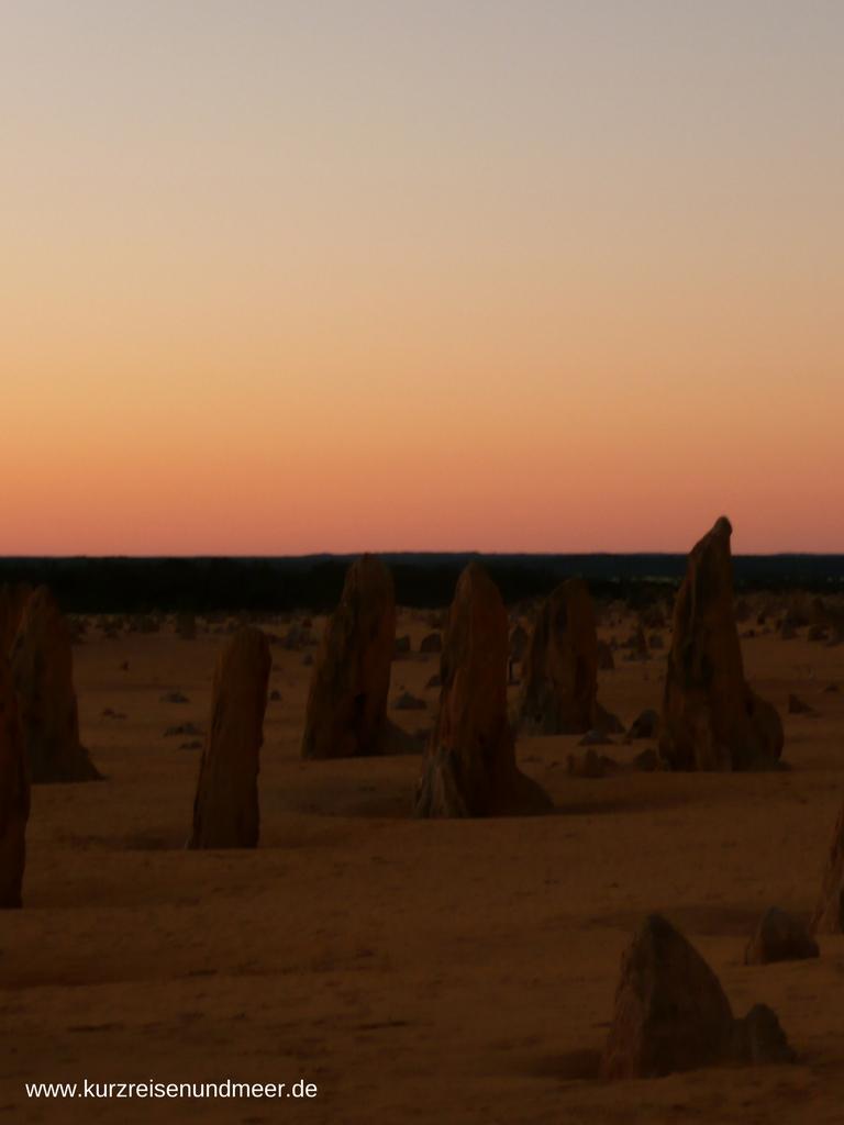 Die Pinnacles im Sonnenuntergang - ein magischer Ort
