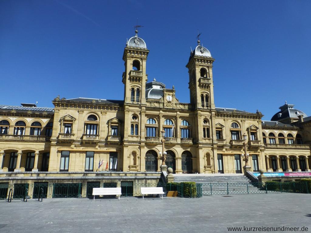 Das Rathaus von San Sebastian
