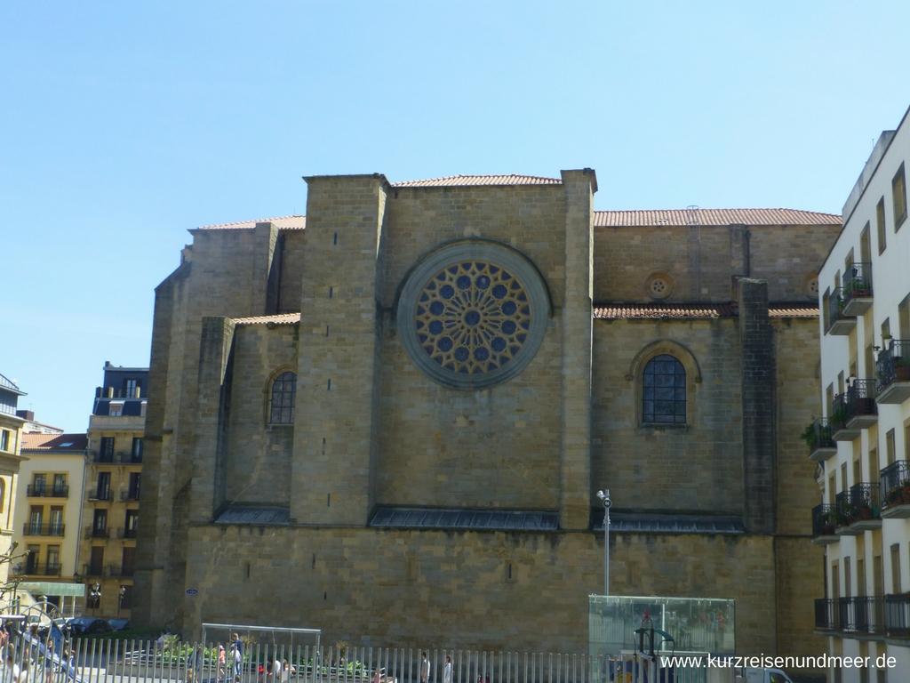 Die Kirche San Vicente, eine von vielen Kirchen in San Sebastian