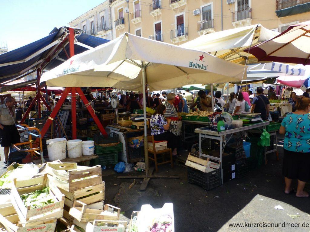 Wochenmarkt in Catania