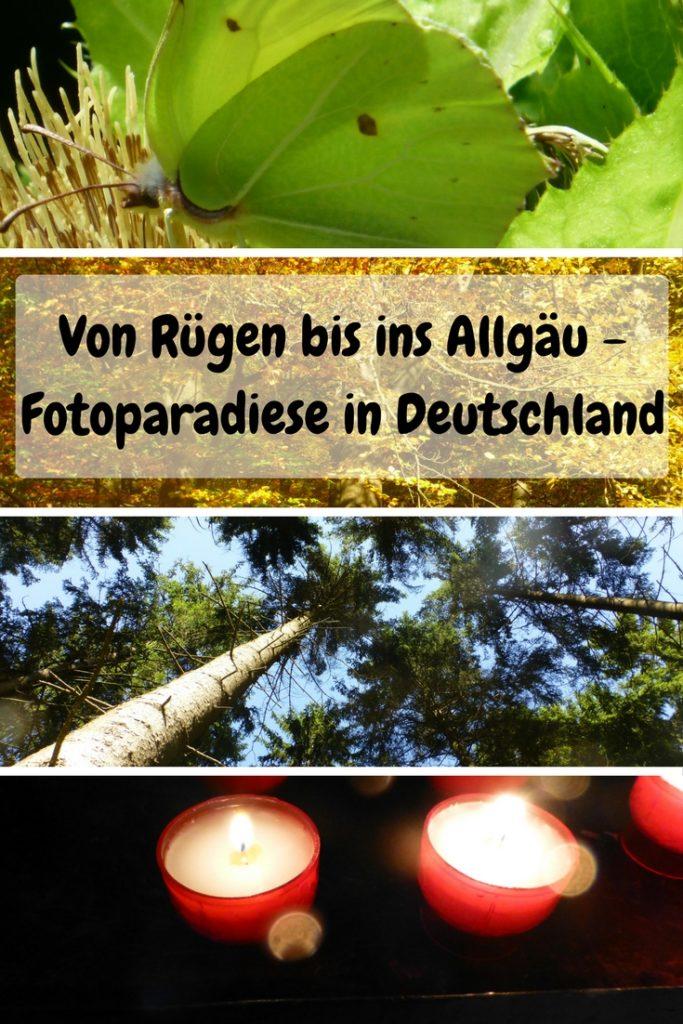 Ich bewundere oft die Fotos von Reisebloggern, die uns ferne Paradiese, so nahe bringen. Dass man auch in Deutschland wunderschöne Bilder machen kann und spannende Motive findet, zeige ich Dir in diesem Blogbeitrag. Im Rahmen einer Fotoparade.