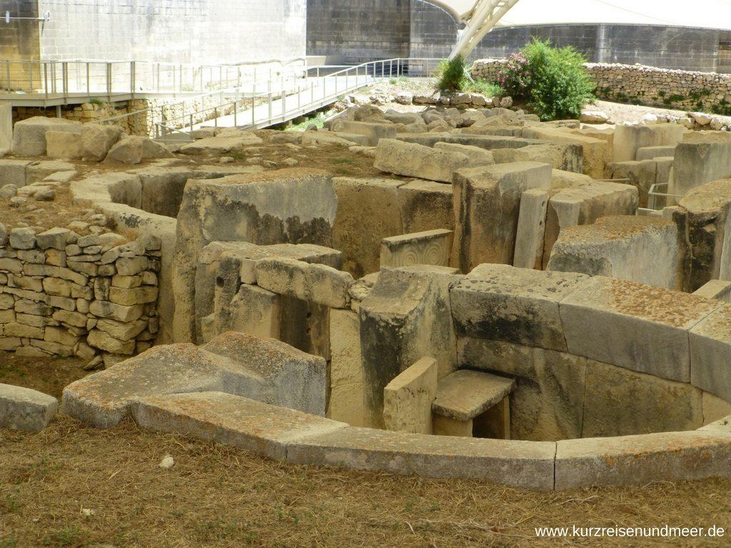 Eine Apsis im Tempel von Tarxien