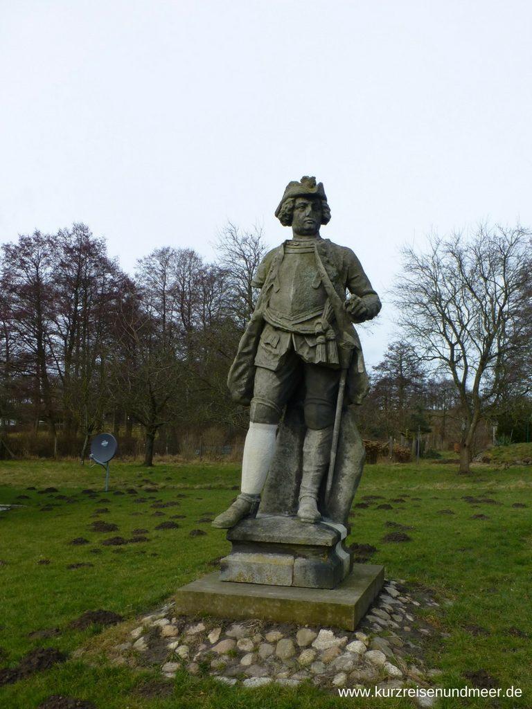 Statue von Friedrich Wilhelm I. König von Preußen mit Restaurantionsarbeiten