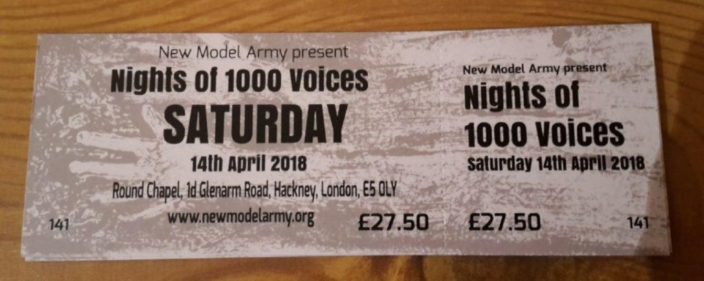 Und hier waren sie endlich: Die Tickets für das New Model Army Konzert!